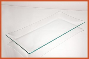 "2nds - 6"" x 12"" Rectangle Clear Glass Plate 3/16"