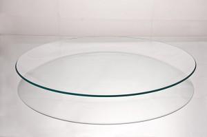"2nds - 18"" Round Clear ""BENT"" Glass Plate  1/8"