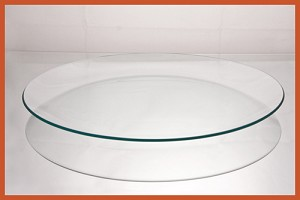 "12"" Round Clear ""BENT"" Glass Plate  1/8"