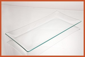 "6"" x 12"" Rectangle Clear ""BENT"" Glass Plate 1/8"