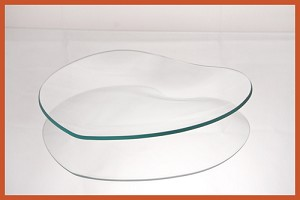 "8"" Heart Clear ""BENT"" Glass Plate 1/8"""