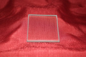 "3"" Square Clear Glass Paperweight, 3/8"""