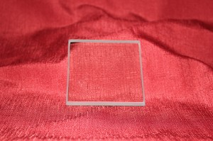 "3 1/2"" Square Clear Glass Paperweight, 3/8"""