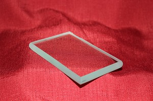 "2 1/2"" x 4"" Rectangle Clear Glass Paperweight, 3/8"""