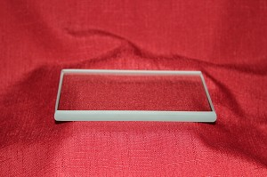 "3"" x 5"" Rectangle Clear Glass Paperweight, 3/8"""