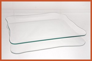 "9"" Rounded Square Clear Glass Plate 1/8"
