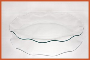 "12"" Round Fluted Clear Glass Plate 1/8"
