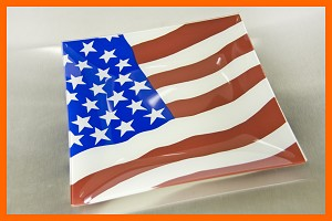 "10"" Square Flag Plate 1/8"""