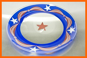 "13"" Round Glory Flag Plate 1/8"""