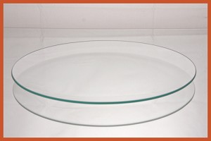 "2nds - 10"" Round Clear Glass Plate Bent 1/8"