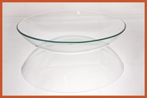 "2nds - 10"" Bowl, Clear Glass Bent 1/8"