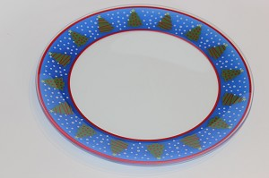 "10"" Round Ring of Trees Plate Bent 1/8"""